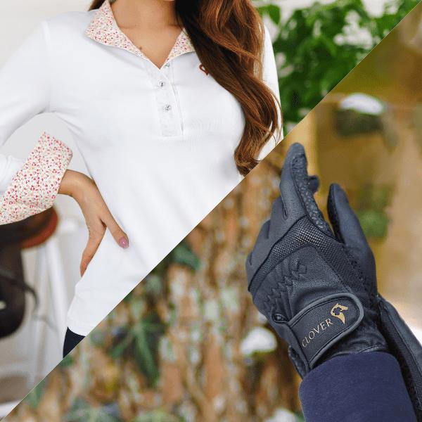 Koszula PINK FLOWERS + rękawiczki BETTY